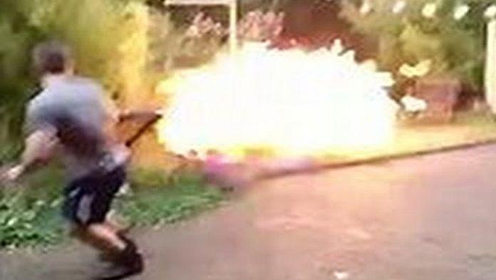 Výbuch v záhrade