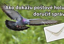 ako doručujú poštové holuby