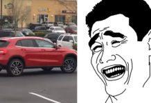 parkoval cez 2 miesta