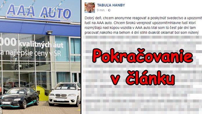 B Val Zamestnanec Aaa Auto Prehovoril O Ich Praktik Ch