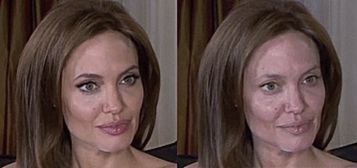 Angelina Jolie bez make-upu