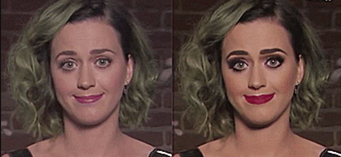 Katie Perry bez makeupu