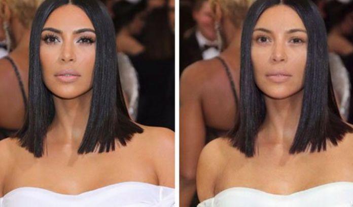 Kim Kardashian bez makeupu