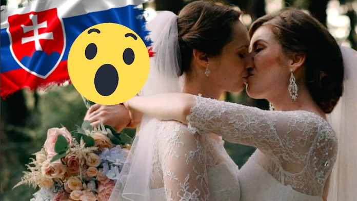 2dc56263e74f Na internete sa zjavilo dojímavé video dvoch slovenských neviest Veroniky a  Ivany. Dojímavé svadobné video z veľkého dňa dvoch dám vyvolalo v Slovákoch  ...
