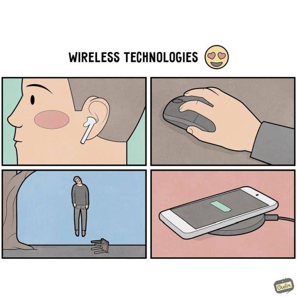 Gudim bezdrôtové technológie.