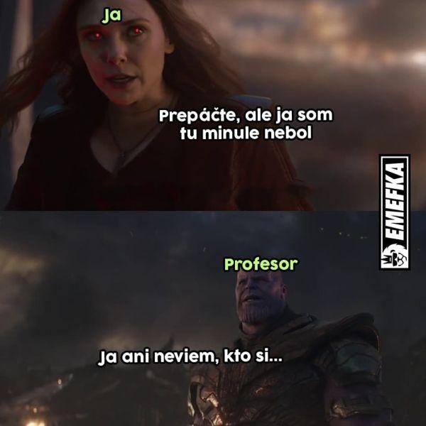 Študenti a profesor Avengers.