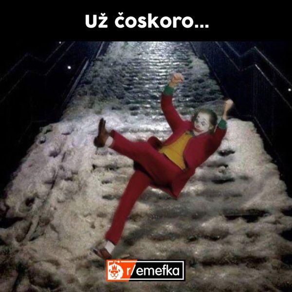 Meme počasie joker ľad.