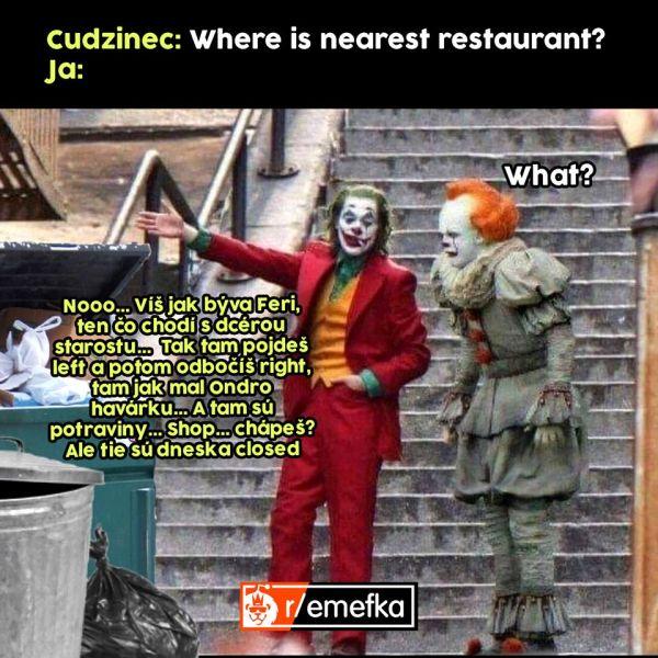 Joker vysvetľovanie vtip.