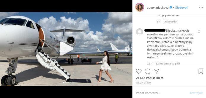 Zuzana Plačková súkromné lietadlo