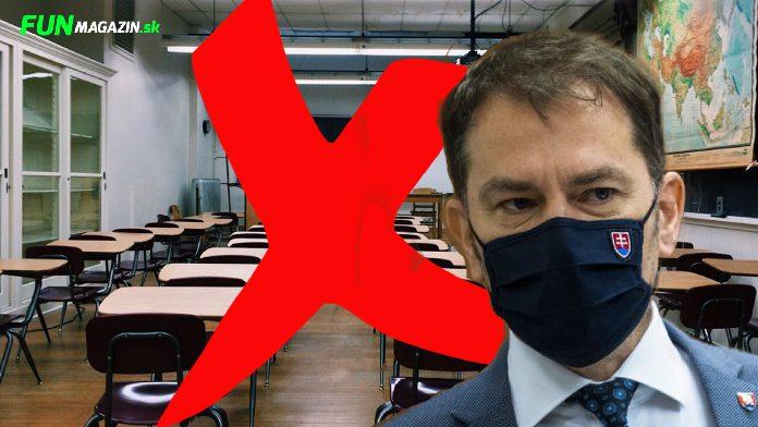 Matovič proti otváraniu škôl